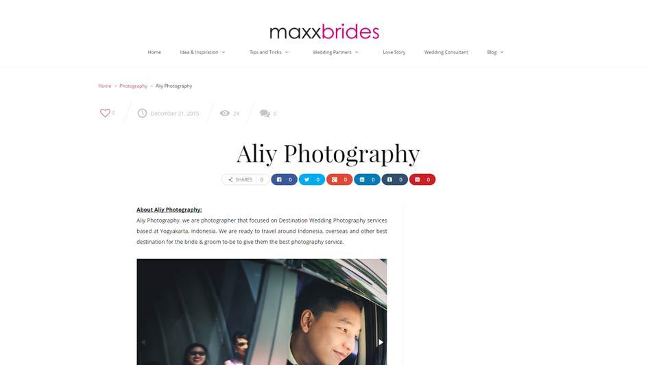 Aliy Photography in Maxx Brides